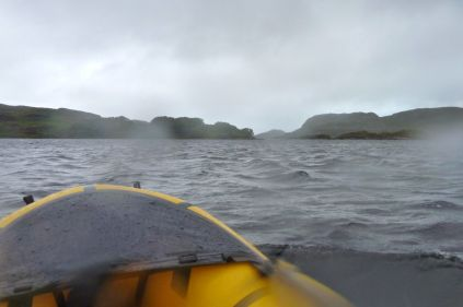 Strong winds on Loch Poll
