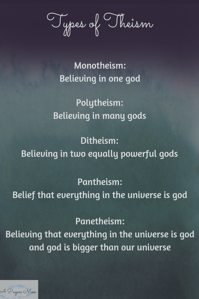 Types of theism defined