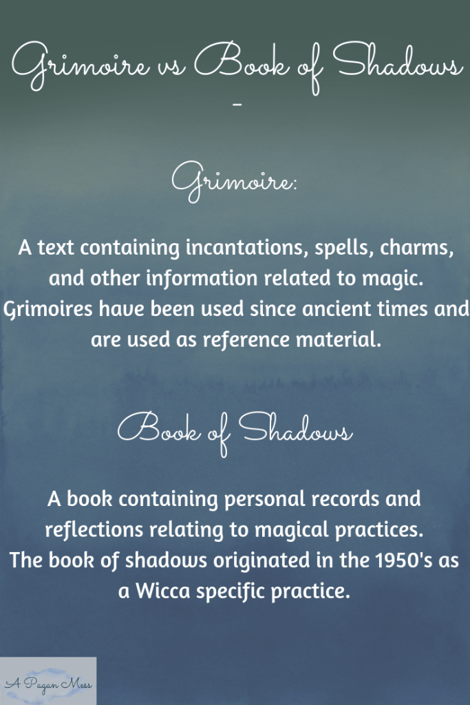 Grimoire Vs Book of Shadows