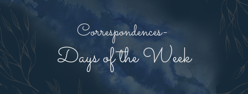 days of the week correspondence title