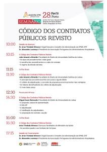 Programa Seminário Código dos Contratos Públicos Revisto - Porto