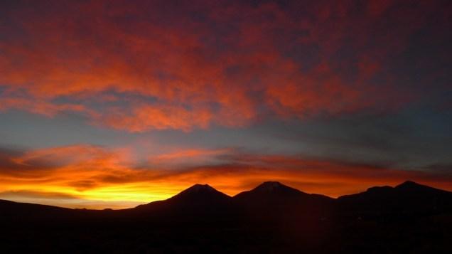 Pour clore une belle journée, un coucher de soleil superbe!