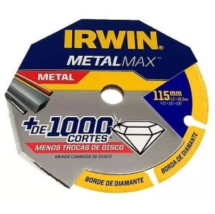 Disco MetalMax da marca Irwin de 115 mm.