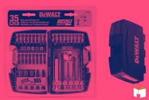 O kit DW2180 da DEWALT garante toda a praticidade que você precisa!