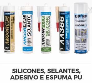 A Âncora apresenta uma linha completa de silicones, selantes, adesivos e espumas PU.