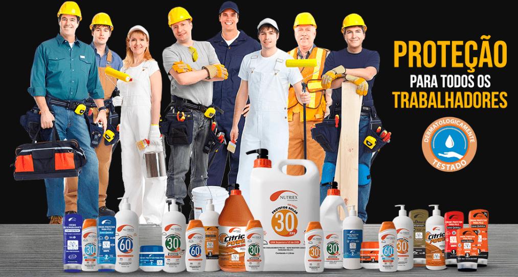Nutriex: proteção para todos os trabalhadores com sua linha de produtos.