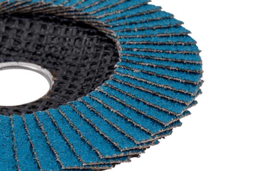 Textura e lamelas de lixa do Disco Flap.