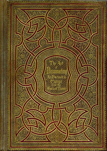 Old book cover with Celtic knot work