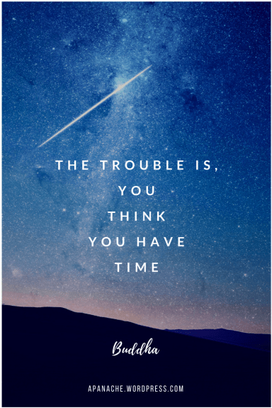 The Trouble is You Think You Have Time ~ Buddha