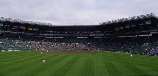 甲子園試合の風景