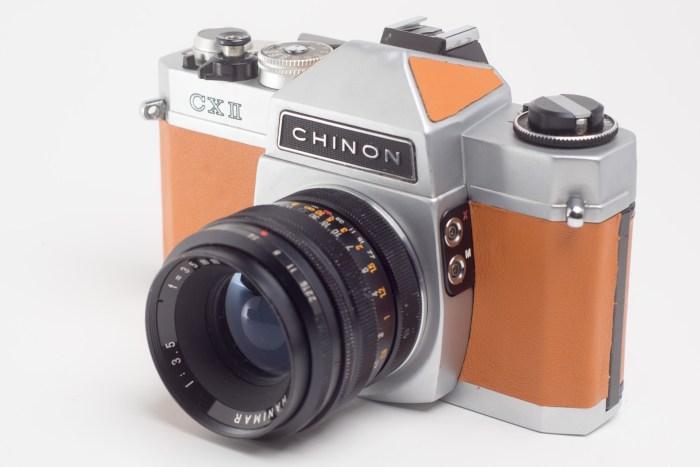 Lustrzanka analogowa Chinon CXII + Hanimar 35mm F3.5