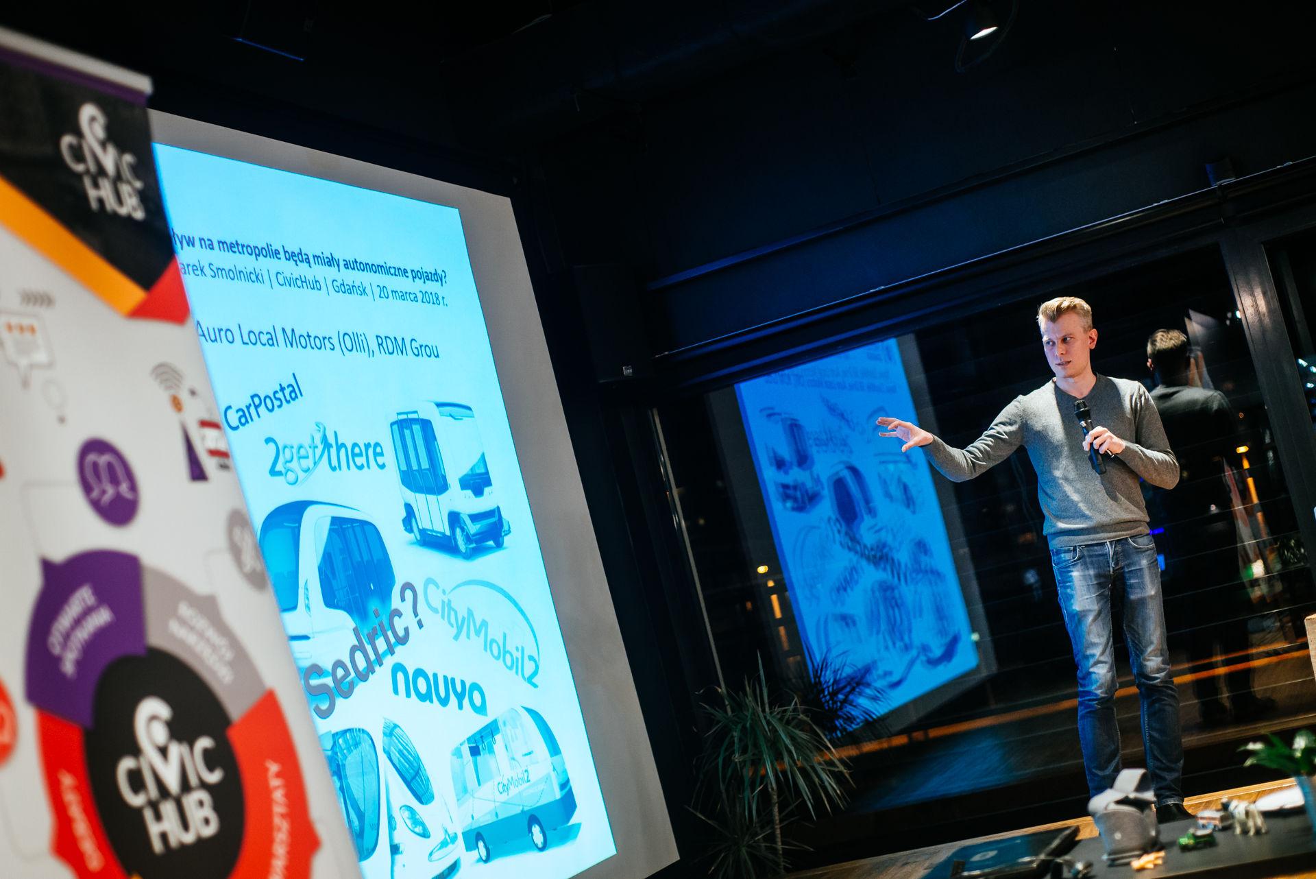 Dokumentacja fotograficzna konferencji - wydarzenie zorganizował Civic Hub w Gdańsku
