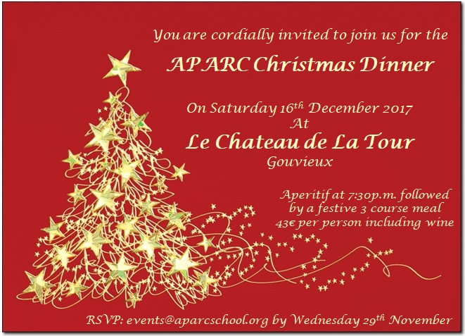 APARC Christmas Dinner Invitation