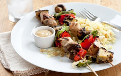 Honey Mustard Chicken and Veggie Kabobs