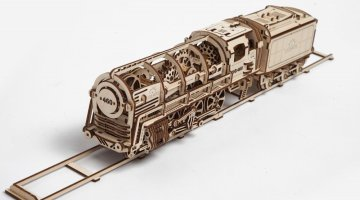UGears Steam Engine Model Provides Interactive Fun #GiftGuide