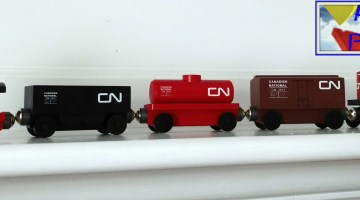 Whittle Brings Canadian National To The Wooden Train Track