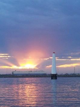 Por-do-sol em Port Melbourne