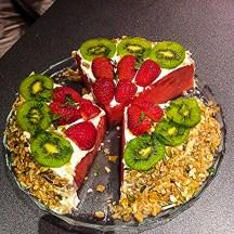 Nosso primeiro bolo de melancia.