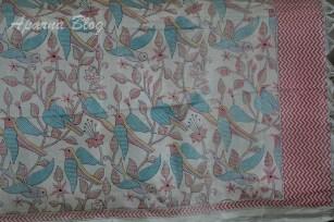 Dupatta with bird motifs.