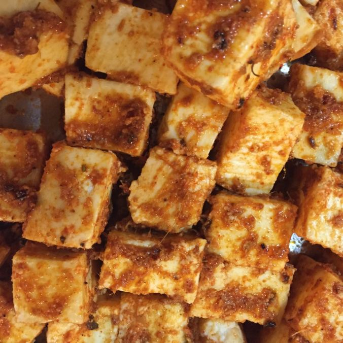 Cottage Cheese Cubed.