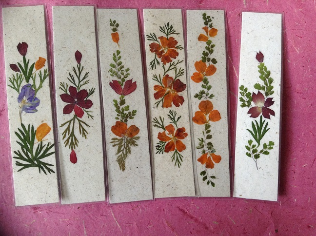 Handmade paper book mark