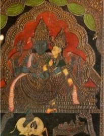 Shiva-Shakti: Tanjore Antique