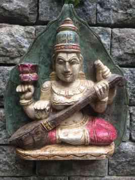 Saraswati - Wood Work Tamil Nadu