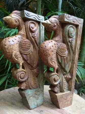 Peacock Brackets - Wood Work Tamil Nadu