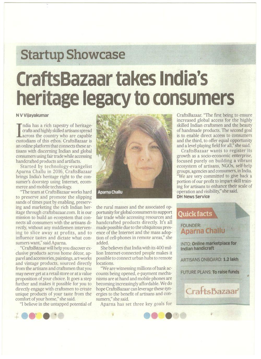 Deccan-Herald-CraftsBazaar-Aparna-Challu-CEO
