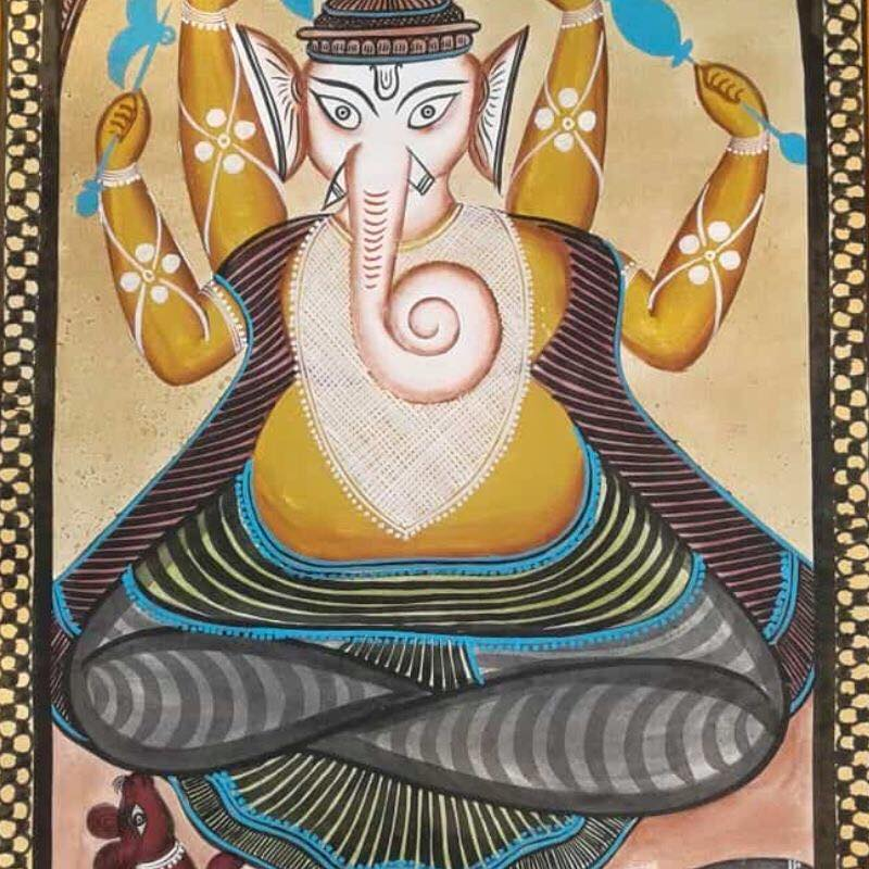Meet-the-Master Series-Shreemati-Mamani-Chitrakar-Kalighat-Painting-West Bengal-Aparna-Challu-jpg (6)