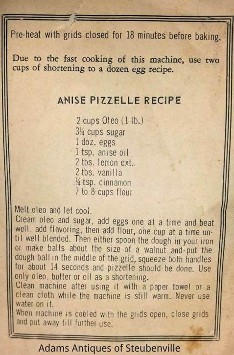 Pizzelle recipe