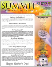 Apartment Newsletters For Community