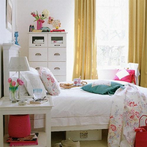 vintage style student bedroom