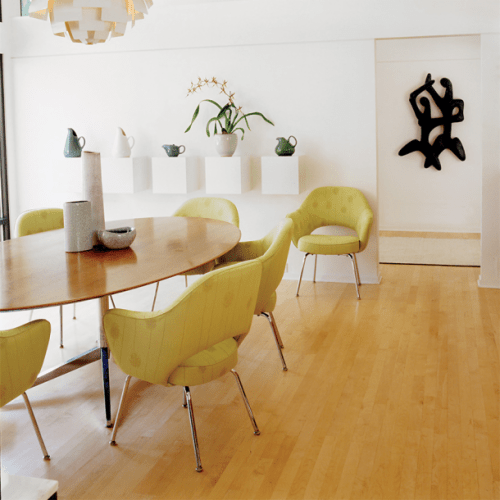knoll table and chairs
