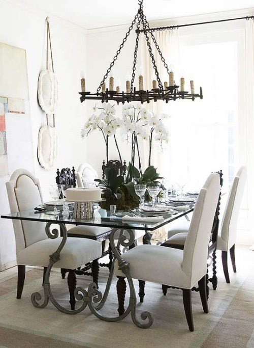 vintage-dining-room-design-white-color-scheme