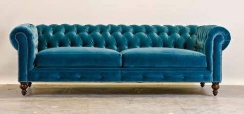 blue sofa chesterfield