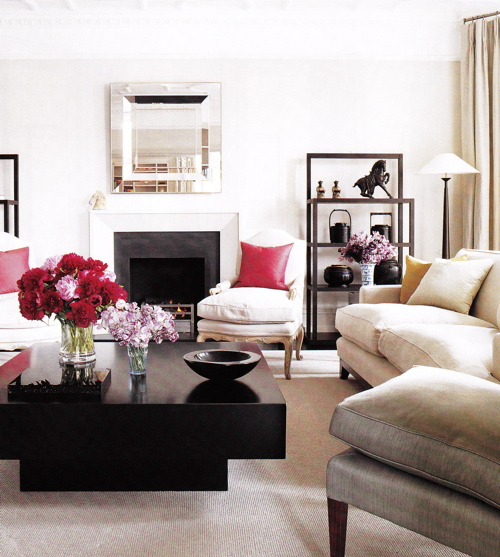pink and black decor