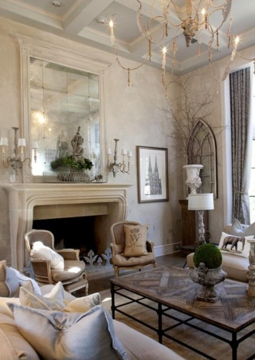 french linen and mirror