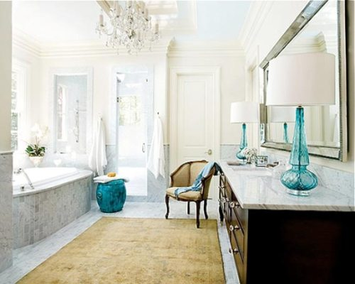 Romantic-Bathroom-Design-with-Retro-Touch