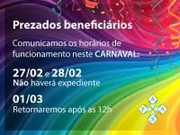 Comunicado Carnaval 2017
