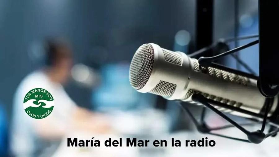 María del Mar en la radio