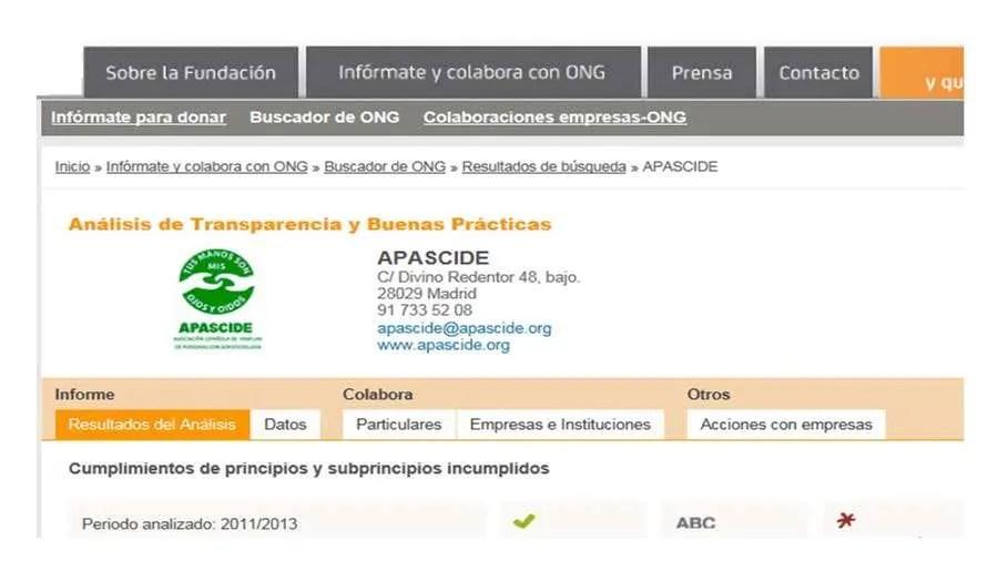 """APASCIDE obtiene el sello de """"ONG acreditada"""" por Fundación Lealtad"""