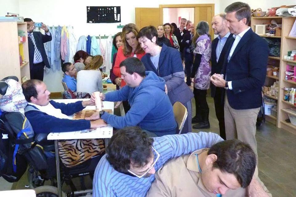 Visita de la Presidenta de la Junta de Andalucia