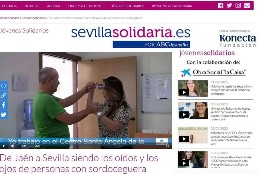 Un video solidario: de Jaén a Sevilla