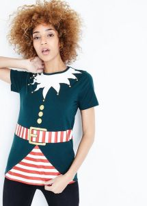 NEWLOOK dark-green-christmas-elf-t-shirt