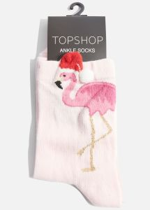 topshop Flamingo 3D Christmas Hat Socks