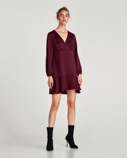 zara V-NECK DRESS