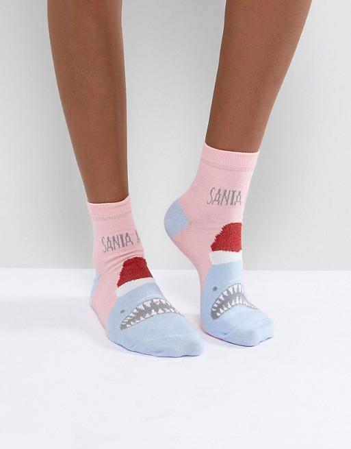 ASOS Christmas Santa Jaws Socks asos