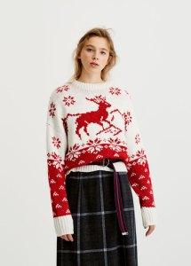 pull&bear Reindeer Christmas sweater