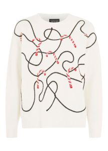 topshop Christmas Candy Cane Jumper